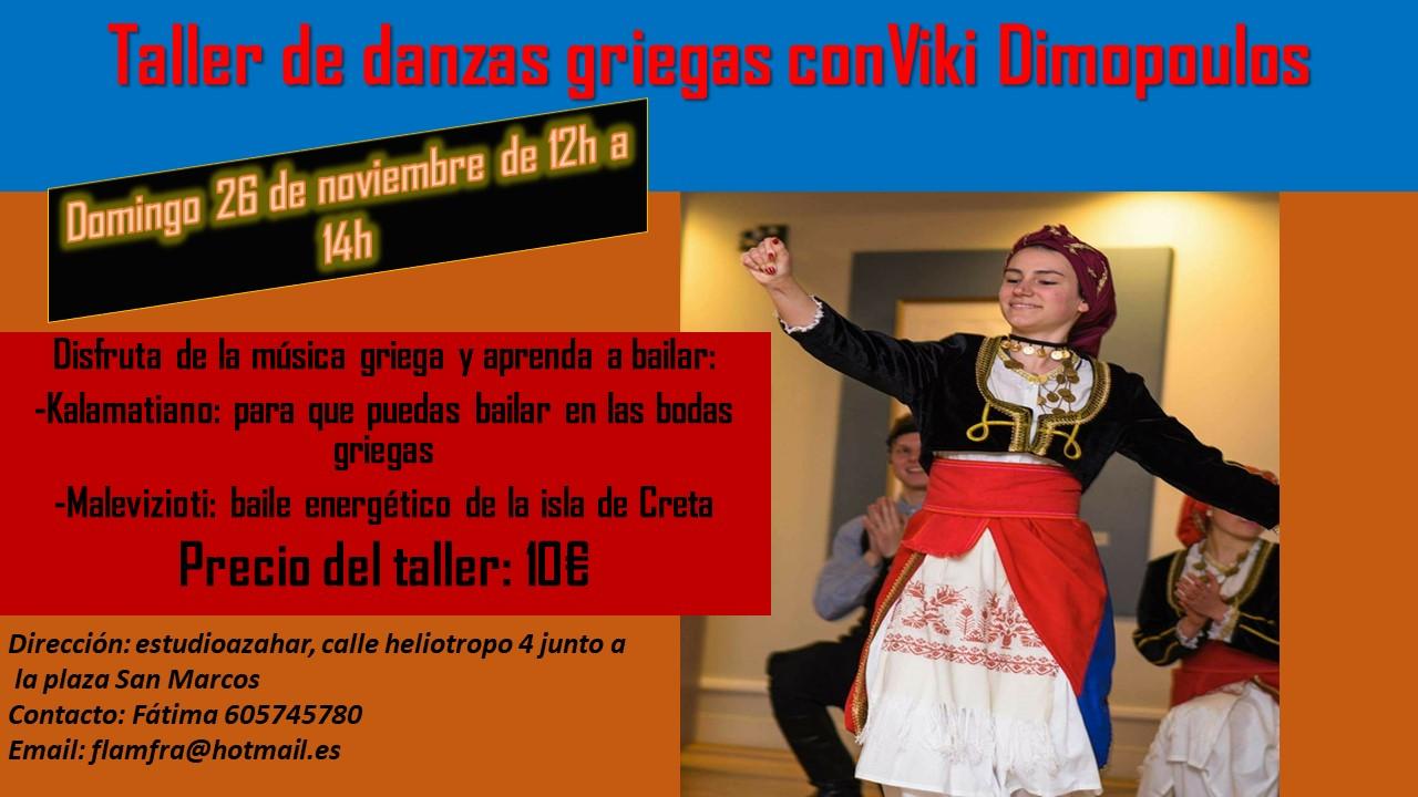 Taller de danzas griegas conViki Dimopoulos 2